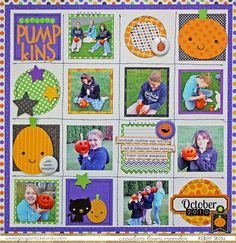 My Happy Place: Doodlebug Ghouls & Goodies Halloween layout by Kathy Skou.