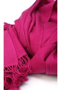 FUCHSIA Pashmina,The Carpet Cellar,Pashmina Chashme Bulbul Stole - Pink<br>U-55