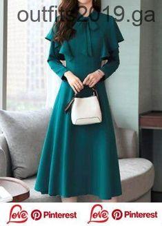 Flouncing Flare Sleeve Bowknot Embellished Dress  cbda7c5c25