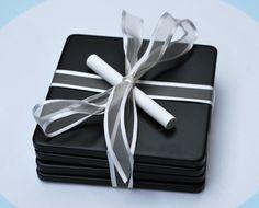 The Moody Fashionista: Chalkboard Coasters - great gift idea!