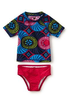 Tea Collection 'Positano' Two-Piece Rashguard Swimsuit