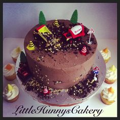 Tonka truck bulldozer cake