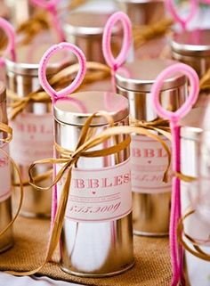 The kids at your wedding will absolutely love these gold bubbles to blow as you exit @myweddingdotcom
