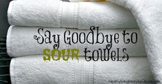 Say Goodbye To Sour Towels with 1 Ingredient Baking Soda