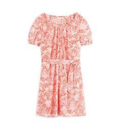 Tory Burch Gauze Drop-waist Short Dress