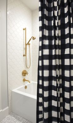 The Final Touch: How Custom Drapes Complete Your Space 2019 Jillian Harris Home Tour Series Leos Bathroom and Bedroom The post The Final Touch: How Custom Drapes Complete Your Space 2019 appeared first on Shower Diy. Jillian Harris, Custom Shower Curtains, Custom Drapes, Boys Shower Curtain, Drapery Designs, Fireclay Tile, Bathroom Pictures, Small Bathroom, Ada Bathroom