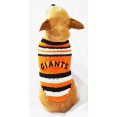 San Francisco Giants Dog Jersey MLB Pet Gear Baseball Sport XXS Chihuahua Clothes Handmade Crochet DK986 by Myknitt - Free Shipping