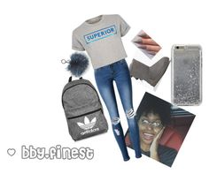 """""""Time for Gray"""" by shawtyjay-12 ❤ liked on Polyvore featuring UGG Australia, WithChic, Être Cécile, adidas, Agent 18 and MICHAEL Michael Kors"""