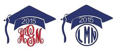 Graduation Monograms with Year   (Choose your Size, Color, and Style)~ INDOOR vinyl listing