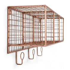 Don't let clutter get you down - add industrial style and smart storage to the mix. The Amph collection helps to organise all of your favourite things throughout the home. Amph Wall Storage, £89 MADE.COM
