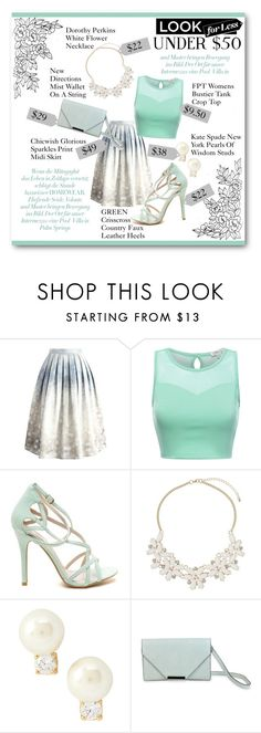 """Look For Less: Under $50"" by lalalaballa22 on Polyvore featuring Chicwish, Dorothy Perkins, Kate Spade, New Directions, under50 and skirtunder50"