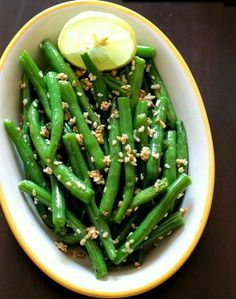 Roasted green beans with sesame