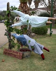 Scarecrows, from the First Annual Calistoga Scarecrow Contest • photo © 2010 Karen Lynn Ingalls