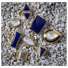 Sea of Stones #Rings #Lapis #MotherOfPearl #Summer15 #Gold #Classics #WhatsNew #Jewelry #AnnaBeck