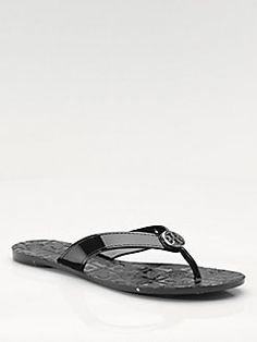 38983018fc83 Tory Burch - Thora Patent Leather Flip Flops Leather Flip Flops Womens