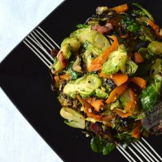 Stupid easy paleo- garlic ginger Brussel sprouts