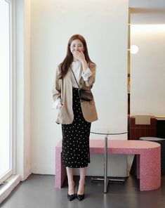 Tall Fashion Tips .Tall Fashion Tips Office Fashion, Work Fashion, Modest Fashion, Fall Fashion Outfits, Fashion Design, 70s Fashion, Fashion Online, Fashion Tips, Korean Girl Fashion