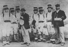 Bucknell Morris Dancers photographed around 1875