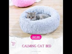 Calming Bed For Cats | Fluffy, Calming & Anti Anxiety | Cat or Cat Cat Lover Gifts, Cat Lovers, Calming Cat, Anxiety Cat, Dog Bed, Cool Cats, Bean Bag Chair, Faux Fur, Warm