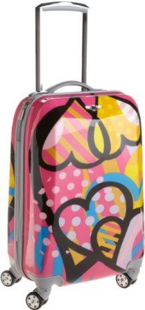 Rockland Luggage 20 Inch Polycarbonate Carry On Luggage, Love, One Size - - Product Description: This carryon is made of polycarbonate/abs. the major benefits of this material - it is extremely light Girls Luggage, Buy Luggage, Luggage Deals, Womens Luggage, Carry On Luggage, Travel Luggage, Travel Bags, Kids Rolling Luggage, What To Pack For Vacation