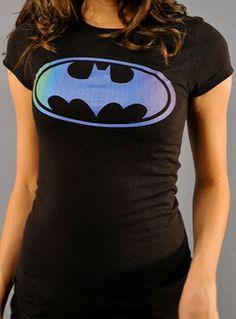 WANT!!! Batman Logo Baby Tee a la sheldon cooper. Blimey Cow would be proud