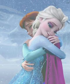 """A Sister""""s True Love. It seems like is huging her Sister , Because elsa was happy that It was Summer And Then Olaf melted Himself , because it was Summer Frozen Disney, Princesa Disney Frozen, Frozen And Tangled, Anna Frozen, Disney Love, Disney Magic, Disney And Dreamworks, Disney Pixar, Walt Disney"""