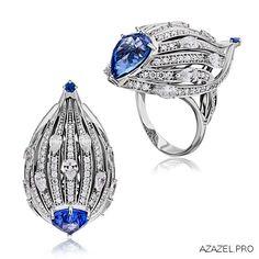 Кольцо с Сапфиром Sapphire ring #sapphire #магазин #store #gallery #diamond #кольцо #красота #перстень #мода #стиль #fashion #woman #store #style #jewelry #bijouterie #gemstone #exclusive #russia #украшения #сапфир #эксклюзив #россия #галерея #москва #дизайн #design #moscow #ювелир #ring High Jewelry, Modern Jewelry, Lotus Jewelry, Color Ring, Cocktail Rings, Diamond Rings, Jewelery, Dark Blue, Jewelry Design