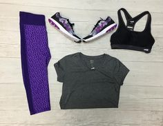 Perfect squats outfit ;) If you ain't sweatin' you ain't doin' it right! More selections at our Schaumburg location #athletic #platoscloset #schaumburg #trendynotspendy#nike #champion