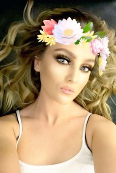 Perrie rocking that snapchat filter!