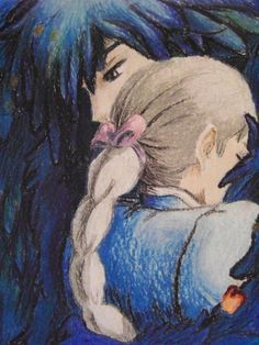 Howl & Sophie. Studio Ghibli. Howl's Moving Castle. Gah I love this movie.