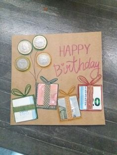 Make money gift for birthday yourself gifts Money gift for birthday . - Make money gift for birthday yourself gifts Make money gift for birthday yourself - Birthday Presents, It's Your Birthday, Birthday Cards, Birthday Money Gifts, 21st Birthday, Homemade Gifts, Diy Gifts, Creative Money Gifts, Gift Money