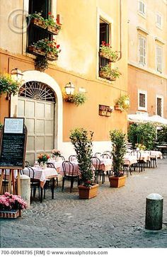 Image Detail for - Sidewalk Cafe, Rome, Italy > Stock Photos Oh The Places You'll Go, Places To Travel, Places To Visit, Italian Cafe, Italian Bistro, Italian Theme, Wonderful Places, Beautiful Places, Amazing Places