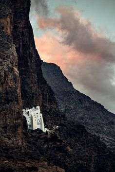 Photography in Greece. View of Hozoviotisa's Monastery in Amogos island.