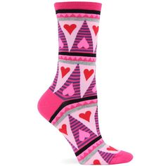 Women's Geometric Hearts Socks