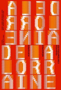 Philippe Apeloig  De la Lorraine  Exposition sur l'art, l'histoire et la mémoire de la Région Lorraine  Affiche 118 x 175 cm  2004