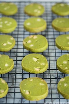 Green Tea Cookies (抹茶クッキー) - Enjoy your afternoon tea with these buttery, crispy Green Tea Cookies with Matcha powder. The unique flavor of matcha in the cookies is surprisingly delightful! Easy Japanese Recipes, Japanese Food, Green Tea Cookies, Cookie Recipes, Dessert Recipes, Tofu Recipes, Meatball Recipes, Drink Recipes, Delicious Recipes