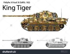 German Ww2 Tiger B King Tiger Stock