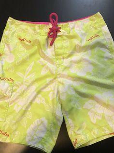 1fe2452afc MEN'S XL HOLLISTER BOARD SHORTS - TROPICAL/FLORAL - NEON GREEN WHITE  #fashion #