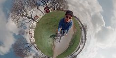 Man's Panoramic Video Of A Bike Ride Makes The World Look Pretty Tiny