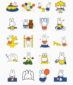 Kawaii Drawings, Cute Drawings, Elsa Beskow, Miffy, Toddler Fun, Line Sticker, Body Mods, Cute Illustration, Design Crafts