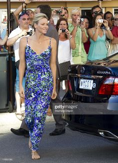 Princess Charlene of Monaco visit 'History Of The Princely Wedding' Exhibition at Musee Oceanographique on July 21, 2011 in Monaco, Monaco.