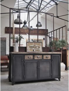 Buffet vintage industriel