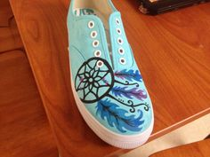 Dreamcatcher Hand Painted Shoes on Etsy, $45.00