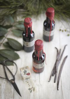Sprinkle Bakes: Homemade Vanilla Extract in Wax-Sealed Bottles