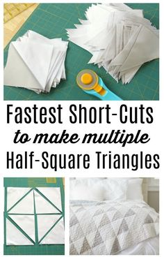 Add another skill - sewing together quilt block on point - with another classic patchwork design. Farmhouse Four-Patch Quilt tutorial by Amy Smart. Quilt Baby, Baby Quilt Patterns, Baby Quilt Tutorials, Quilting Tutorials, Quilting Tips, Triangle Quilt Tutorials, Hand Quilting, Quilting Projects, Amy Smart