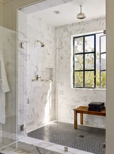 Calistoga farmhouse CA. Total Concepts GC\u2026marble and tile in shower. Find this Pin and more on pretty bathroom ideas ... : pretty-bathroom-ideas - designwebi.com