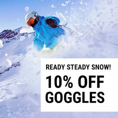NEW KIT TO KICK-START SNOW SEASON!    Yes, it's finally here! But, even a casual foray into the white stuff is not to be taken lightly. You need goggles to protect you from highly intensified UV, harsh wind and snow. From Oakley to Anon, we've got your goggles covered.   Get 10% off using code READY10 at checkout by midnight on 25/10/16.  https://www.sunglasses-shop.co.uk/goggles/sortby/newin.aspx  #wintersports #ski #goggles #snow #fashion #stylish #outfitoftheday #instafashion #swag #model…