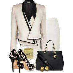 Love this classy outfit. Office Fashion, Work Fashion, Fashion Looks, Fashion Beauty, Business Mode, Business Outfits, Mode Outfits, Fashion Outfits, Womens Fashion