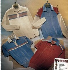 Men's fashion in the was dominated by sportswear, corduroy, turtlenecks and itchy sweaters. 1980s Mens Fashion, Boy Fashion, Fashion Outfits, Vintage Men, Vintage Fashion, Vintage Clothing, Fashion Marketing, Colorful Fashion, Fashion Pictures