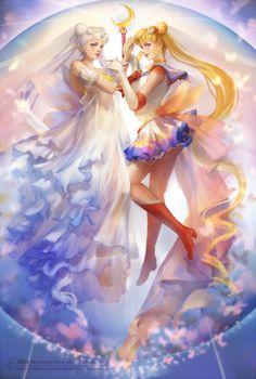 SAILOR MOON and Princess Serenity by MoonlightYUE on @DeviantArt